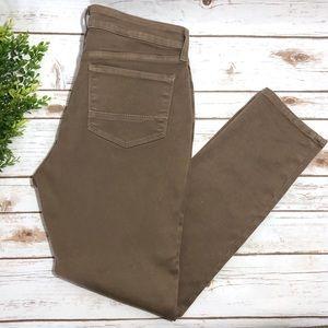 NYDJ Legging Stretch Pants Brown Khaki Jeans